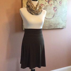 Chocolate brown skirt.